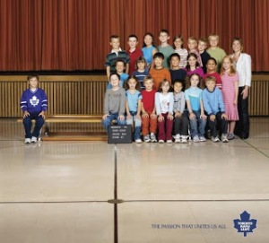 James' elementary school photo. Hockey fans will understand